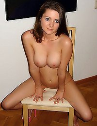 Exceptional fake tits on brunette