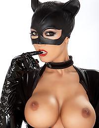 Catsuit on a pornstar