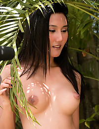 Naked Asian in jungle