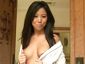 Rochelle Minami the sweet Asian girl poses for the photo camera