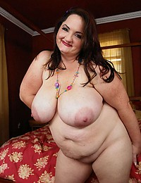Fat solo girl striptease