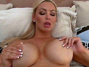 Busty Blonde MILF Abbey Brooks Gets a Facial After Pussy and Titty Fuck