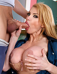 Blond Cougar Tames Massive Wang
