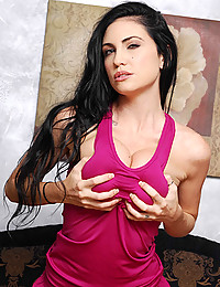 Sultry Emmanuelle Squeezes Throbbing Cock