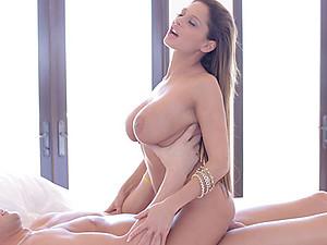 Leggy Brunette Hottie Alison Sucks Dick
