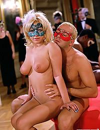 Naughty Blonde Enjoys Multiple Cocks