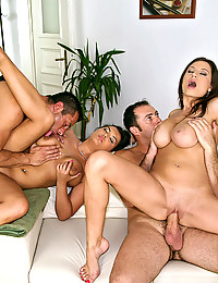 Two Incredibly Hot Babes Love Foursome