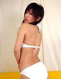 Busty Asian in a bikini