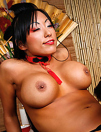 Busty Oriental Beauty Pleasures Thick Cock