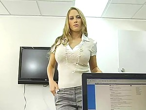 An insatiable boss fucks his secretary in his office