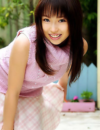 Japanese girl in sweater upskirts