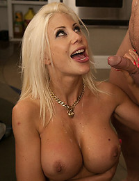 Very Busty Blonde Milf Smothers Dong