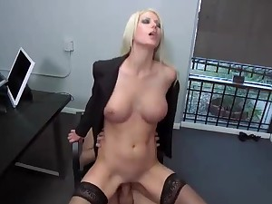 Jazy Berlin in office sex