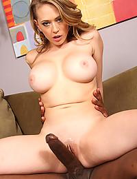 Blonde Beauty Pleasures Black Cock