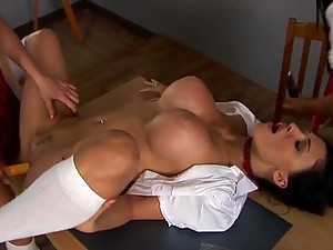 Amazing Anal Toying In Lesbian Threesome with Hot Euro School Girls