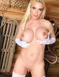 Sensual lingerie on busty slut