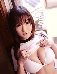 Japanese schoolgirl big tits tease