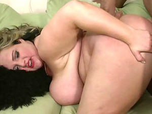 Long haired BBW interracial sex