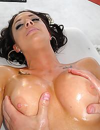 Oiled Beauty Chanel Enjoys Cock