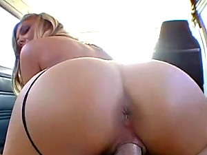 Busty Olivia\'s Bangbus gets full of horny sex with a big ass babe