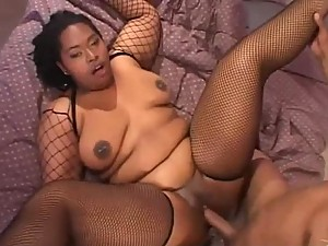 Black BBW gets a Rimjob Fucks and Sucks Cock