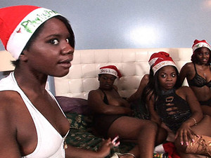 Porn Pros Network - Tis the season for some serious pimpin' n slangin'. Santa brought some hoes over to get the party started off right! Alana James was the head reindeer leading 5 more of the luscious round ass booty hood rats straight to my fuckin' cand