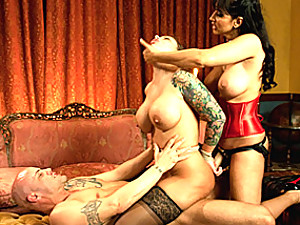Slave does DP with couple