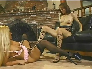 Charlie Laine and Austin O'riley in Lesbian Scene Playing with Toys