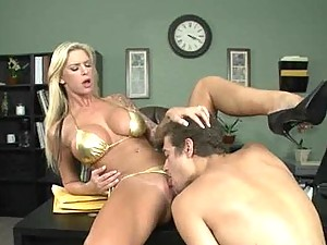 Horny Blonde Brooke Banner Goes Nuts On A Big Cock