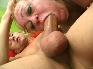 Blonde Granny Fucks Young Dick