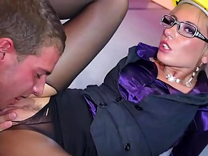 Horny Lesbian Sluts Sucking and Fucking In Crazy Orgy