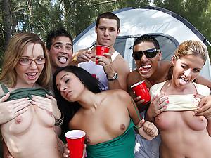 Camping trip turns to hardcore sex