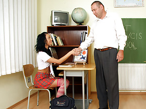 Horny teacher fucking one of his hot students