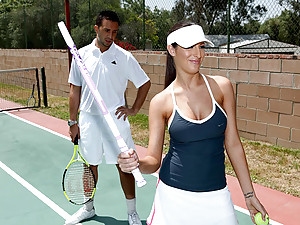 Tennis playing girl likes big cock