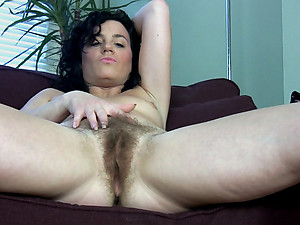 Sofia Matthews has a secret, she doesn't shave her pussy. This hairy pussy is just waiting to be fingered. Watch as Sofia Matthews spreads her hairy pussy lips apart to allow her fingers to slowly insert into her moist snatch.
