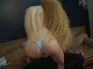 Blond Hairy MILF Taking a Stud's Big Cock In Her Bushy Cunt