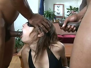 Three Big Black Cocks Gangbanging The Brunette Amber Rayne