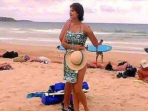 Catherine Bell blue bikini hard body