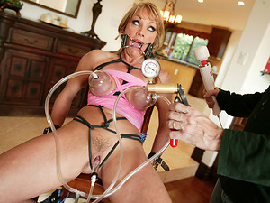 Porn Pros Network - Shayla Laveaux takes time away from her family to go off and fulfill her fantasies as a total fucking whore! This busty blonde and sexually thrived MILF has an urgency to satisfy her bondage curiosity. We strap in a spider gag in her m