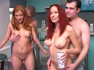 Naked gals getting naked and ready to suck dick