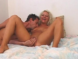 Blonde Slut gets Banged Rimmed and Covered with Splooge