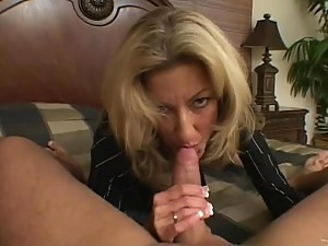 Blonde MILF Pops Out Her Big Boobs And Gets Nailed By A Huge Cock