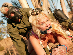 Porn Pros Network - Busty blonde and dead fucking gorgeous, Heidi Mayne just got even fucking hotter. Tied and chained to a tree, Heidi's amazing round ass got slammed so fucking hard will getting her tits squeezed extremely hard! She was so into that coc
