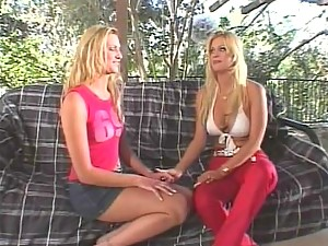 Lovely cheerleader Ashley Long shares with a hot blondie a monster shaft