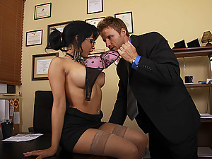 Horny Office Slut Abella Gets Banged