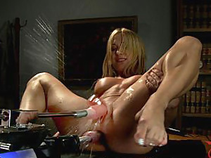 Amy takes pop-can girth in her ass,a drill in her pussy & squirts everywhere.Does DOUBLE ANAL while being Pussy fucked! THREE machine cocks, TWO holes