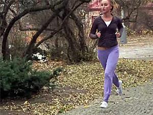 Cute running teenager shagging a big stiff boner hardcore