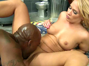 Cock-Hungry Blonde MILF Mellanie Monroe Sucks and Fucks a Black Cock