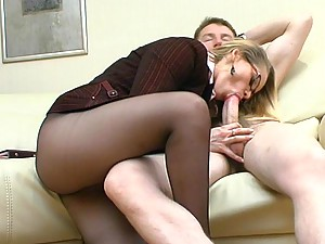 Susanna&Oscar uniform pantyhose sex action