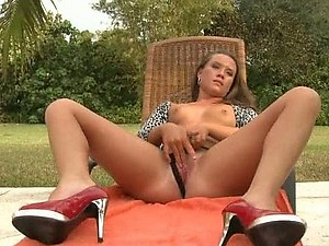 Sexy Small Tittied Babe Taking On a Big Cock Outdoors